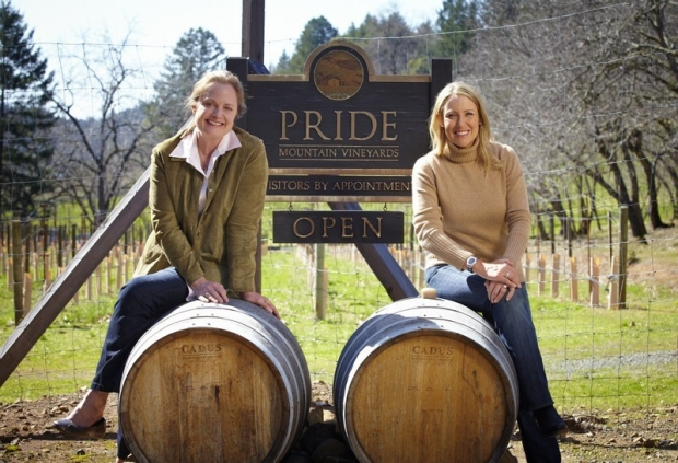 Suzanne Pride Bryan (left) and LPGA star Cristie Kerr share a passion for wine and breast cancer research. Credit: courtesy of Suzanne Pride Bryan