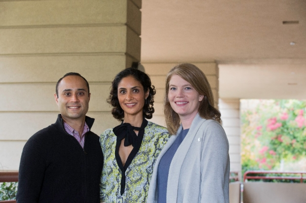 Rakesh and Shelly Marwah with Melinda Telli, MD