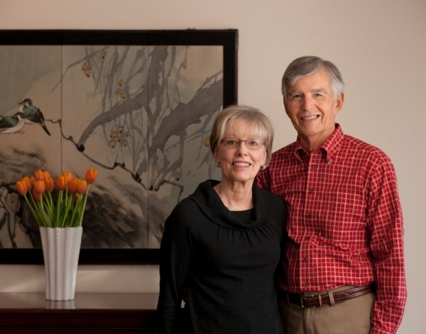 Judith and Leslie Denend, MBA '73, PhD '77
